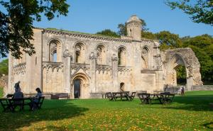 A view of Glastonbury Abbey.
